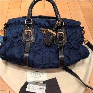 679714205a8 Prada Bags   Sapphire Blue Nylon Bag   Poshmark
